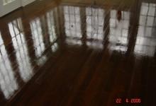 Sun Room Dark Wood Stained White Oak Floors