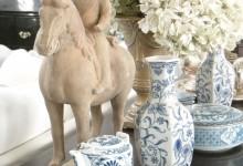 Ceramic Tang Dynasty Replica Man on Horse