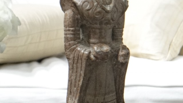 Tang Dynasty 618-907 Period Replica Court Lady, Bronze and Iron