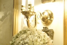 Powder Room Brass Wall Sconce