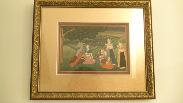 Framed Hand Painting of Krishna from New Delhi