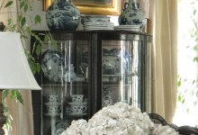 Antique Display Case for Flow Blue Collection