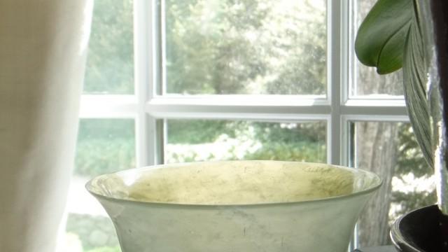 Delicate Moss Green Jade Bowl